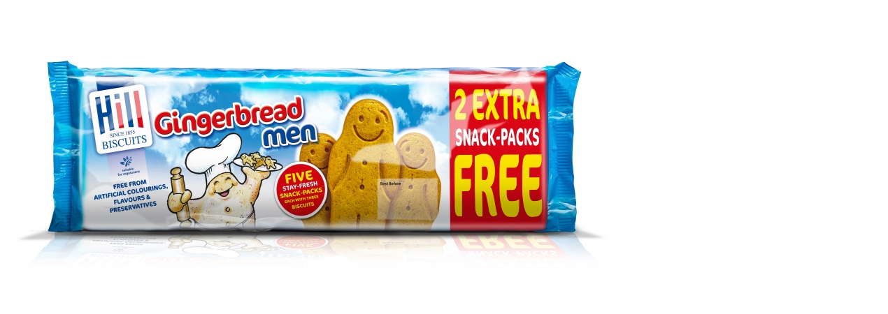 Hill Biscuits GINGERBREAD MEN 5+2 packet