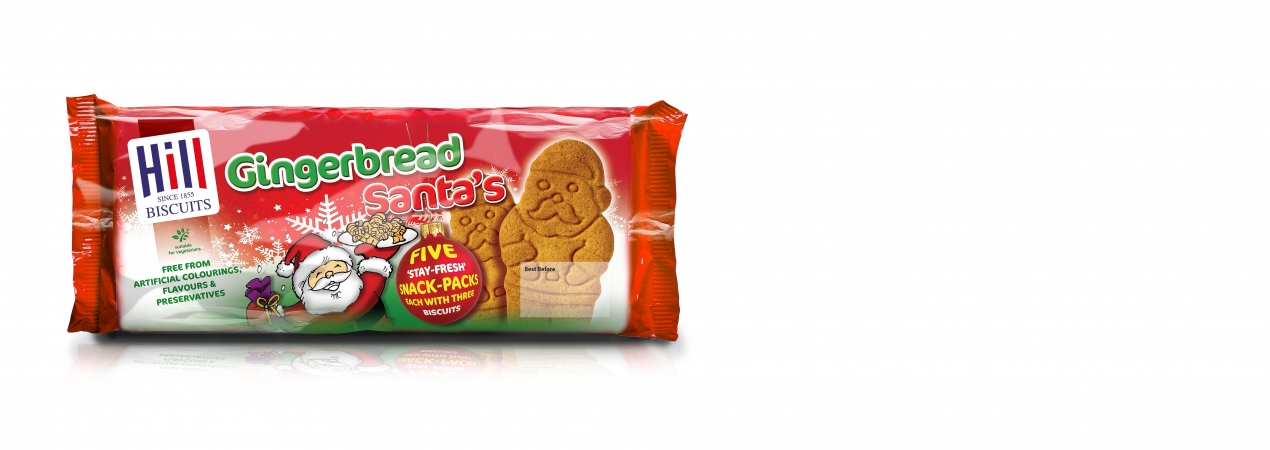 Hill Biscuits GINGERBREAD SANTA packet