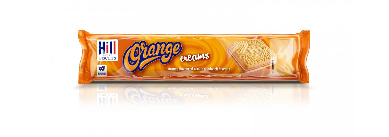 Hill Biscuits ORANGE CREAMS packet