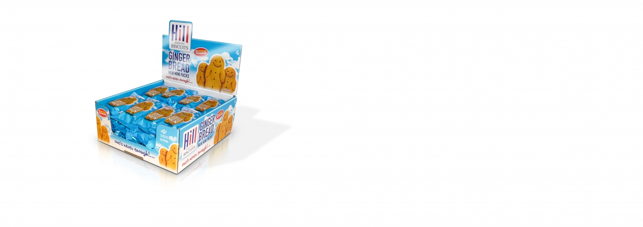 Hill Biscuits GINGERBREAD MEN CDU packet