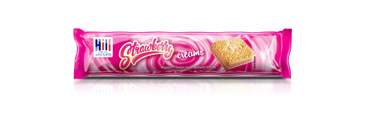 Hill Biscuits STRAWBERRY CREAMS packet