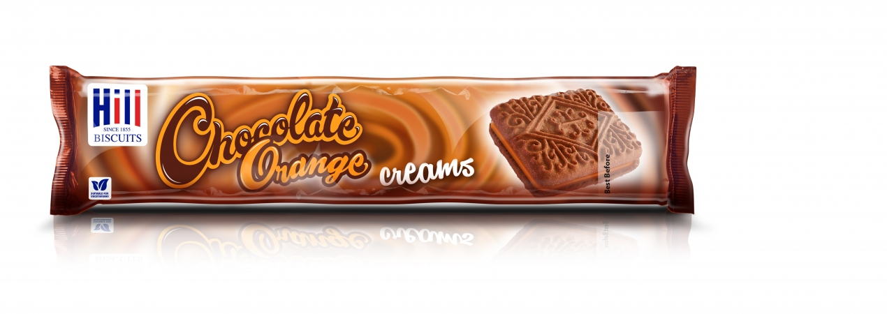 Hill Biscuits CHOCOLATE ORANGE CREAMS packet
