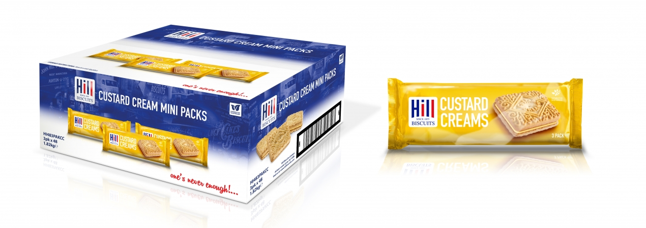 Hill Biscuits CUSTARD CREAMS 3pk packet