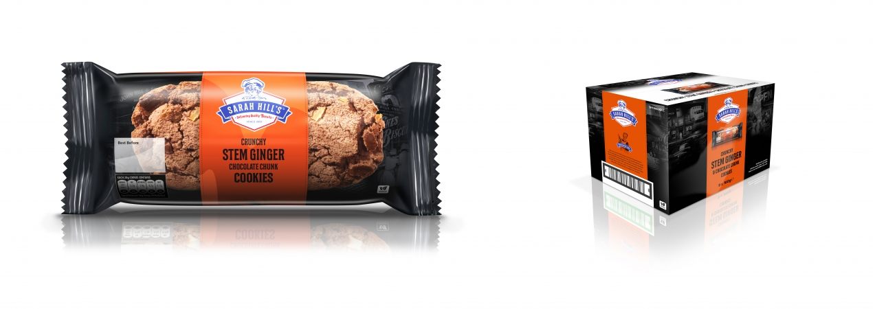 Hill Biscuits CRUNCHY STEM GINGER & CHOCOLATE CHUNK COOKIES packet